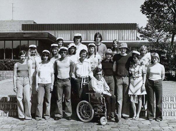 Studenterfoto, Køge gymnasium, juni 1975.
