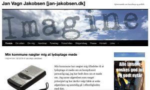 Skærmbillede af hjemmeside jan-jakobsen.dk